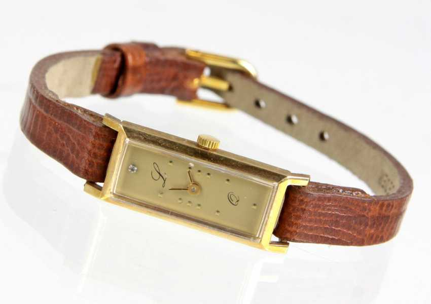 Golden ladies wrist watches yellow gold 585 - photo 1