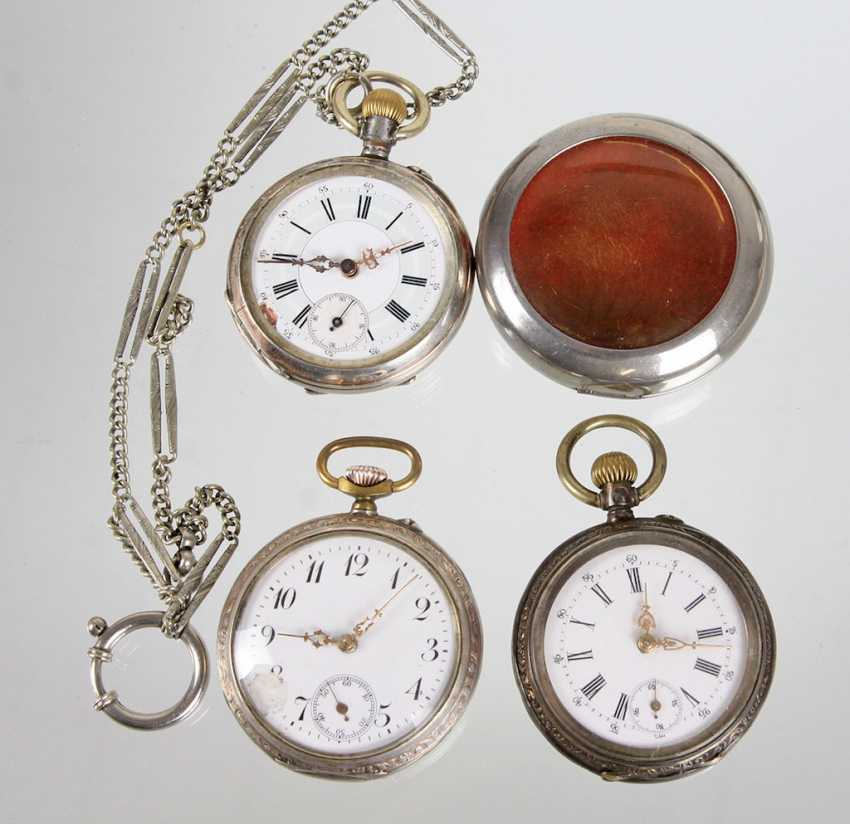 3 pocket watches, around 1920 - photo 1