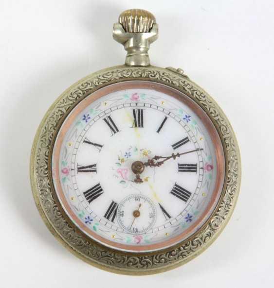 Карманные часы с полихромной циферблат - фото 1