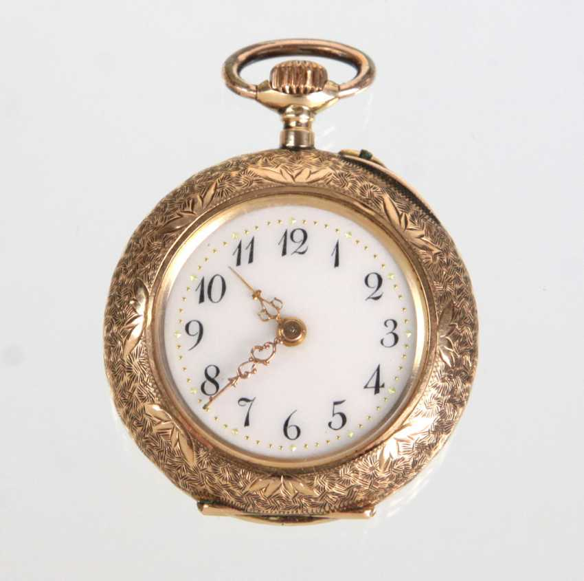 Art Nouveau Ladies Pocket Watch - Yellow Gold 585 - photo 1