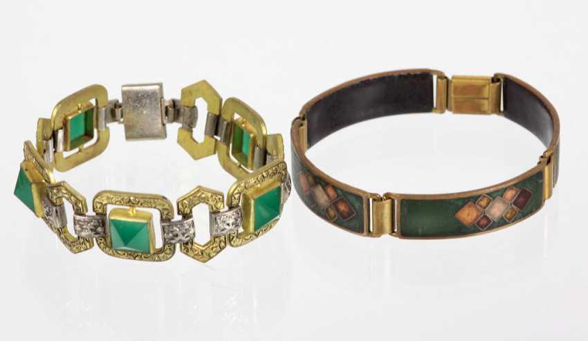 2 Art Deco Bracelets - photo 1