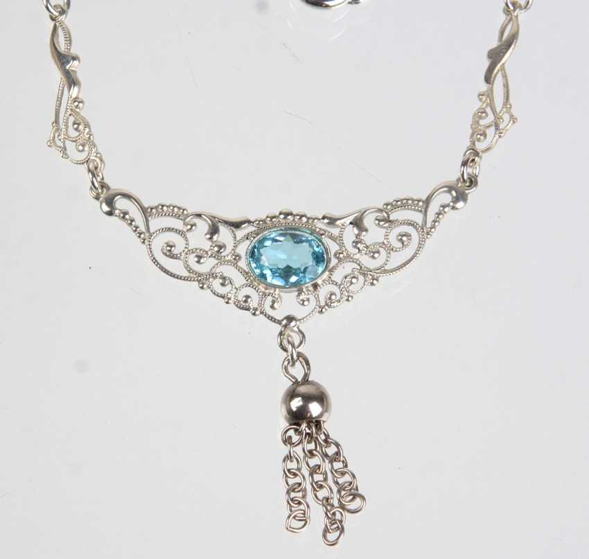 Neck necklace with genuine Topaz - photo 1
