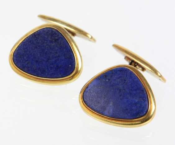 Lapis Lazuli Cufflinks - Yellow Gold 585 - photo 1