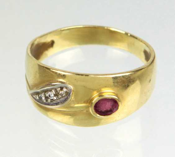Rubin Ring - Gelbgold 750 - photo 1