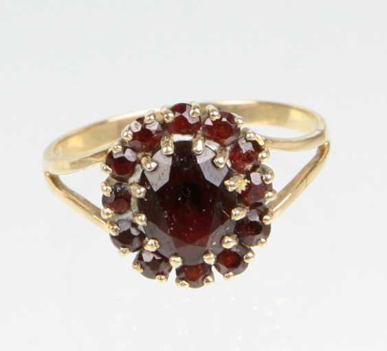 Granat Ring - Gelbgold 333 - photo 1