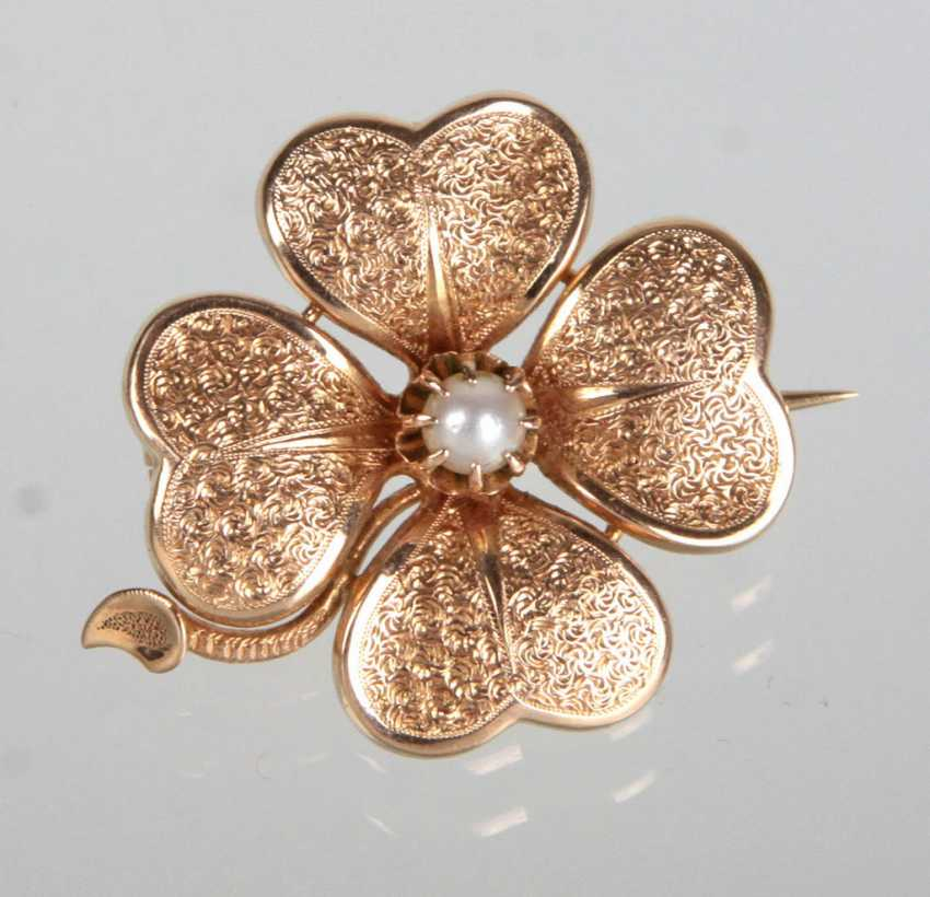 Luck brooch with pearl - RG 585 - photo 1
