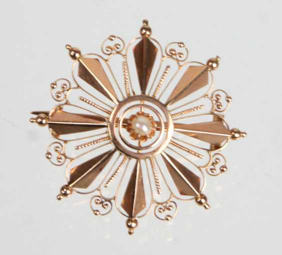 Brooch with pearl - RG 585 - photo 1
