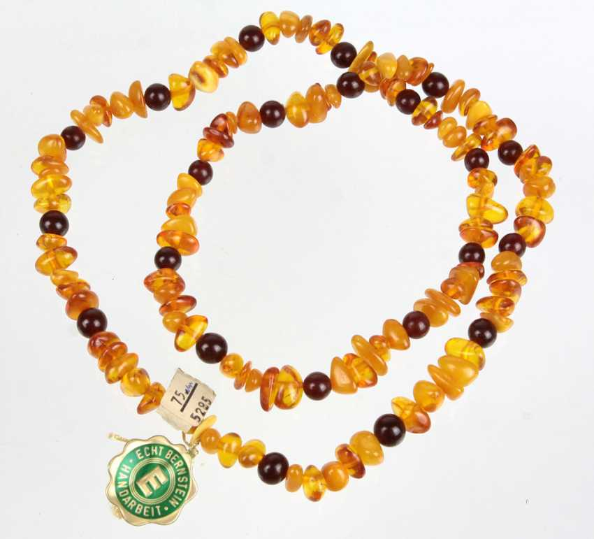 long, Multicolor amber necklace - photo 1