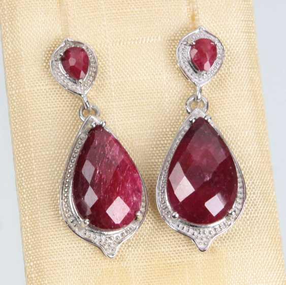 Ruby Earrings - photo 1
