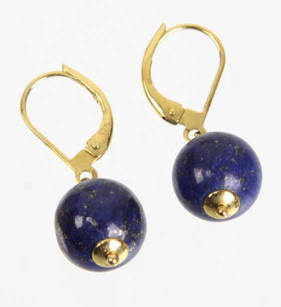 Lapis Lazuli Earrings - Yellow Gold 375 - photo 1