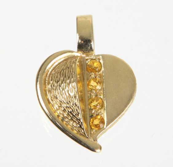 Spessartine Garnet Pendant - Yellow Gold 375 - photo 1
