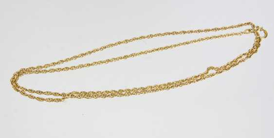 long gold chain yellow gold 585 - photo 1