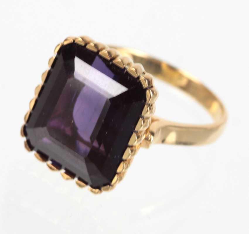 Amethyst Ring - Gelbgold 750 - photo 1