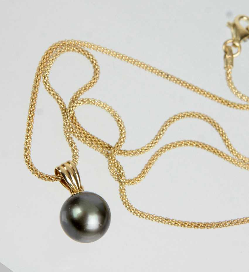 Tahiti Pearl Pendant - Yellow Gold 585 - photo 1