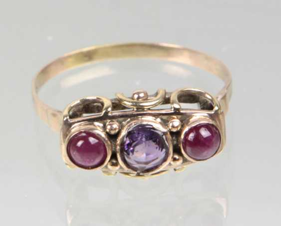 antique Ring with Amethyst & ruby - photo 1