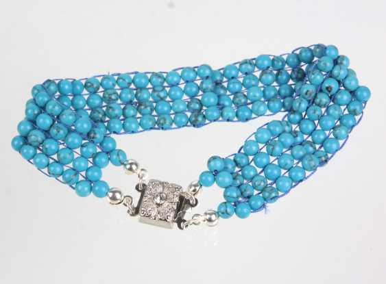 4-row turquoise bracelet - photo 1