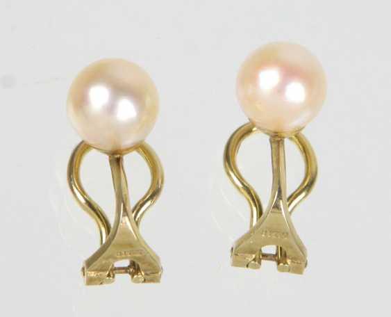 Akoya Pearl Earrings - Yellow Gold 585 - photo 1