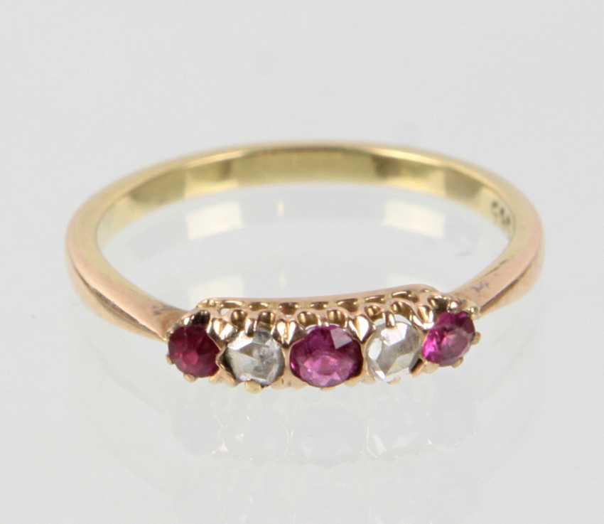 Rubin Diamant Ring - Gelbgold 585 - photo 1