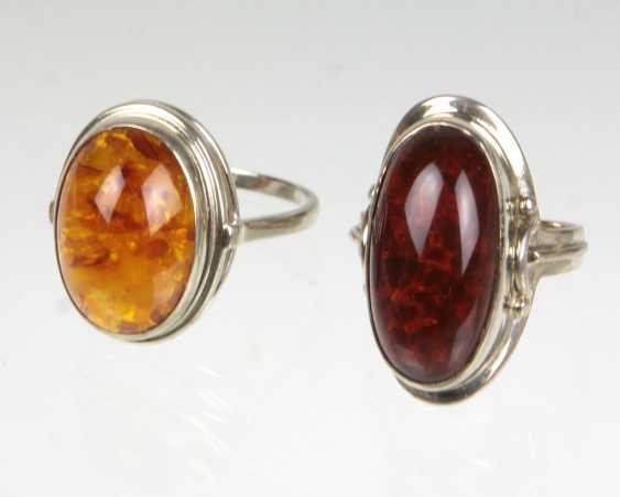 2 Amber Rings - photo 1
