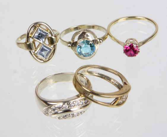 5 ladies rings with trimmings - photo 1