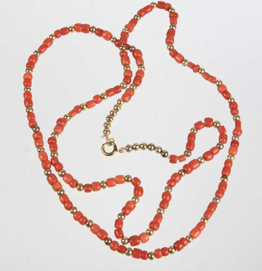 long coral necklace - photo 1