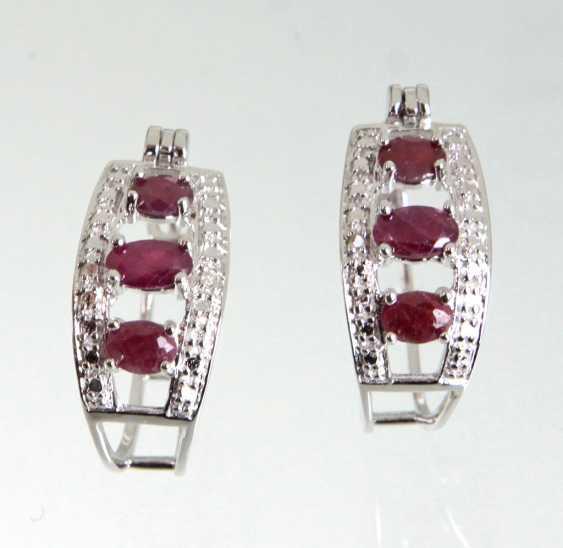 Ruby Hoop Earrings - photo 1