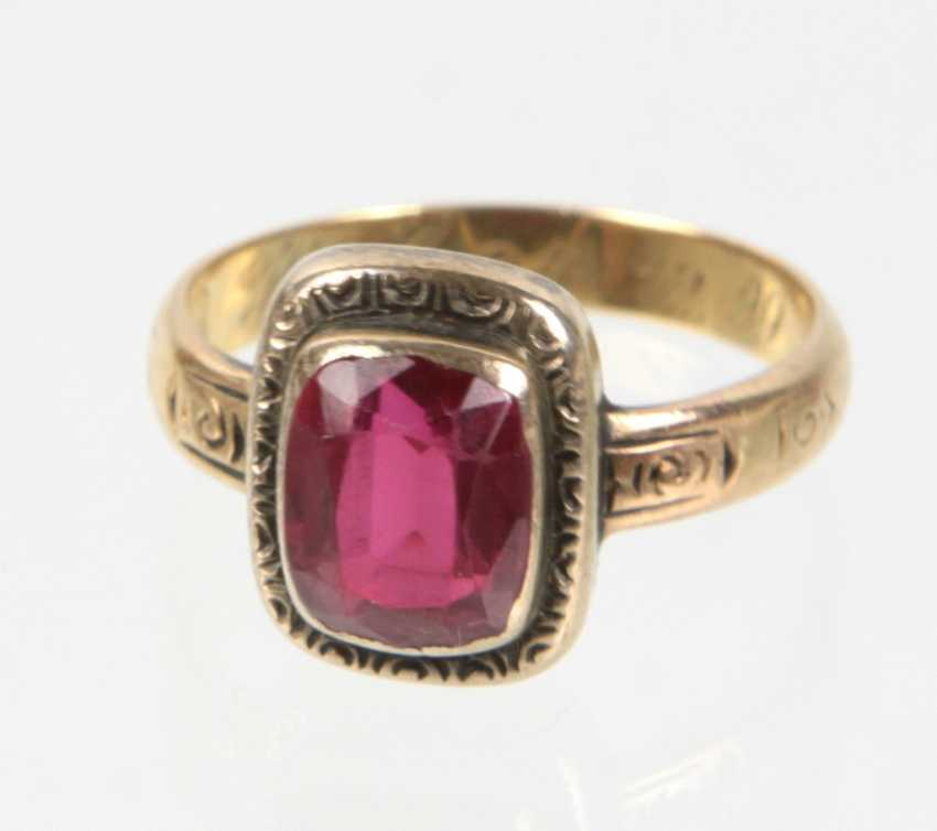 antique ladies Ring yellow gold 750 - photo 1