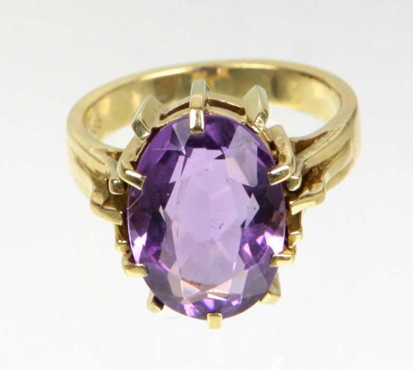 Amethyst Ring- Gelbgold 585 - photo 1