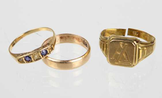 3 Ring - Yellow Gold 333 / 585 - photo 1