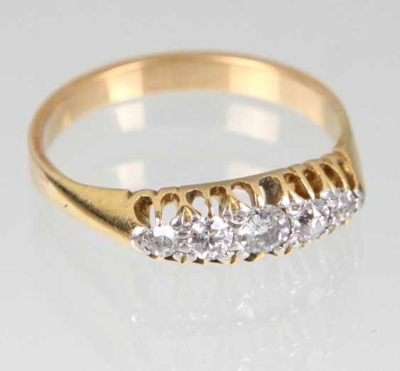 Lot 1908  antique diamond Ring yellow gold 585 from the