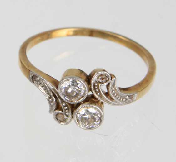 Art Nouveau Diamond Ring - Yellow Gold 585 - photo 1
