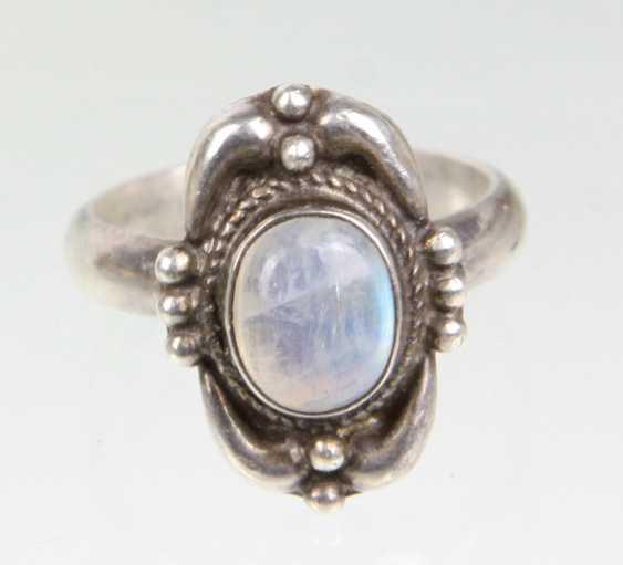 Moon Stone Ring - photo 1
