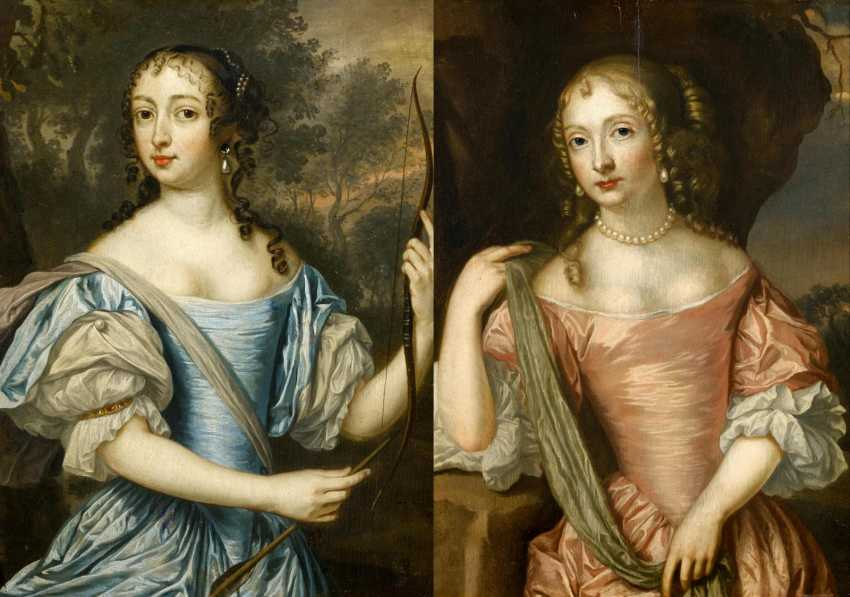 Two paintings: Portraits of Maria of orange-Nassau, as well as the Maria of the Palatinate Zweibrücken - photo 1