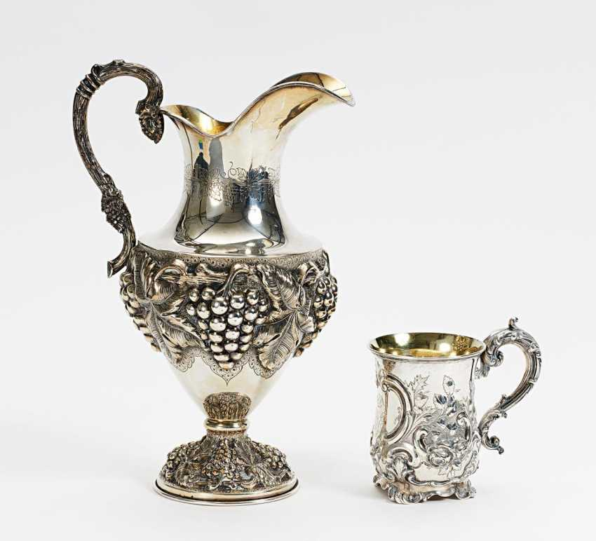 Mug and large pitcher with grape decor - photo 1
