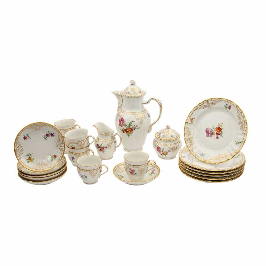 Lot 619  KPM coffee service for 6 persons Rocaille', 20