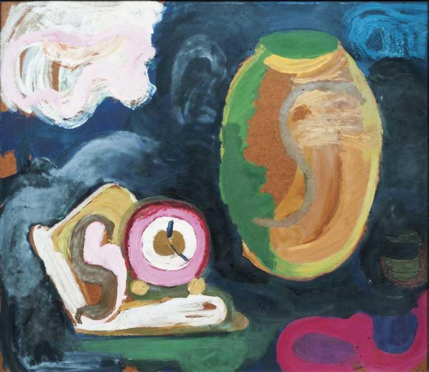 Still life with jug and clock - photo 1