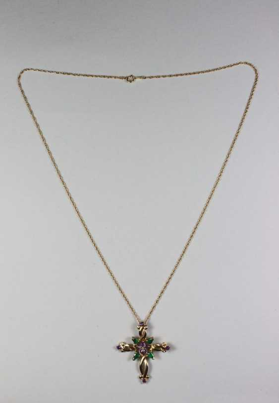 House of Faberge pendant on chain - photo 1