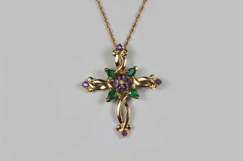 House of Faberge pendant on chain - photo 2