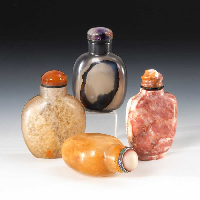 4 Snuffbottles - made of natural Minera - photo 1