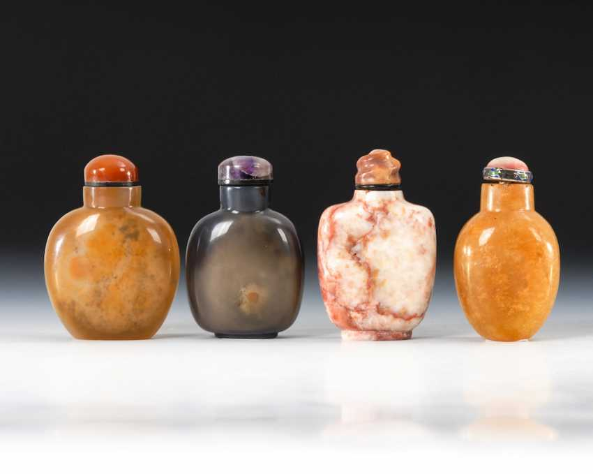 4 Snuffbottles - made of natural Minera - photo 2