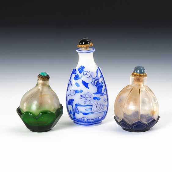 3 Snuffbottles - Flashed. - photo 1