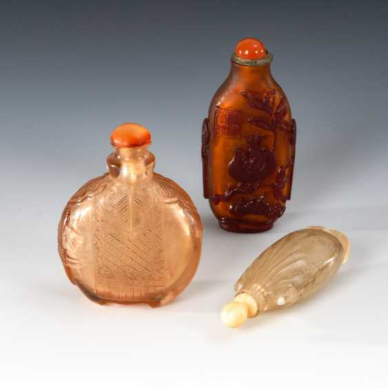 3 Snuffbottles - Glas. - photo 1