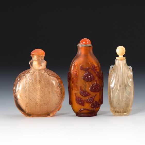 3 Snuffbottles - Glas. - photo 2