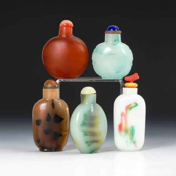 5 Snuffbottles - Glas in Mineraloptik. - photo 1