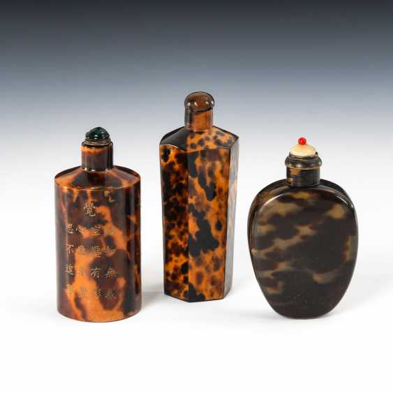 3 Snuffbottles - Schildpatt. - photo 1