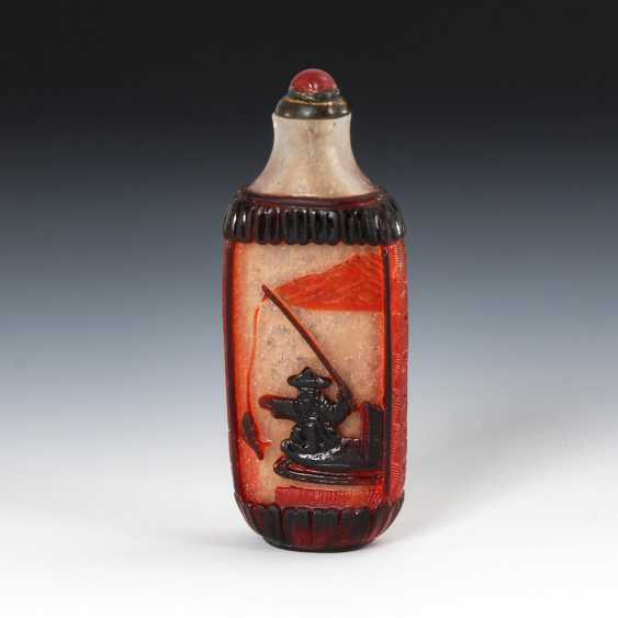 Cut Snuffbottle - Cased Glass - photo 1