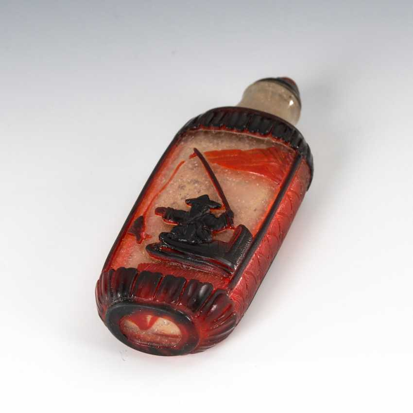 Cut Snuffbottle - Cased Glass - photo 2
