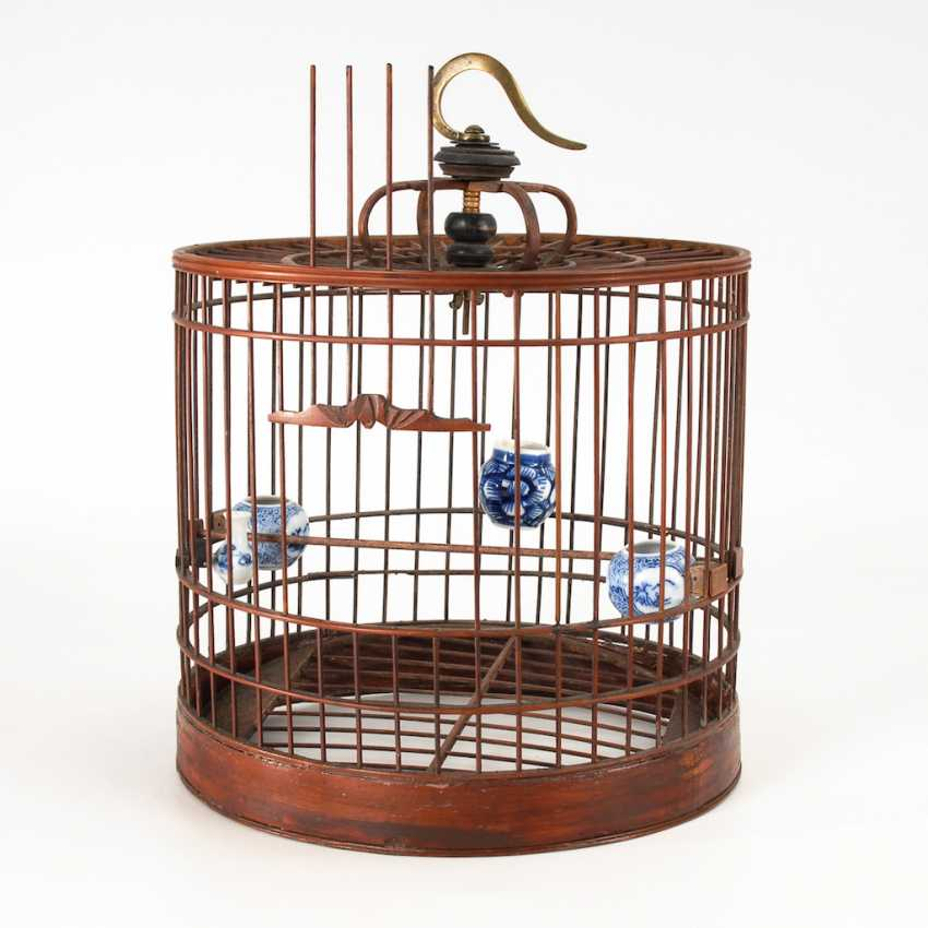 Bird cage with 4 cells. - photo 1