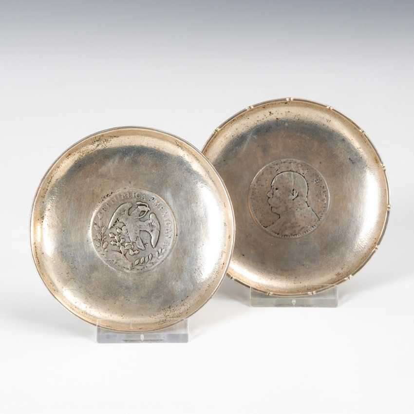 2 Coin Plate - Silver. - photo 1
