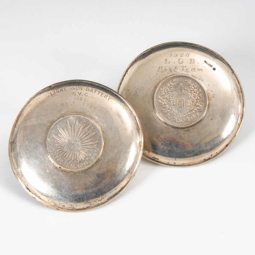 2 Coin Plate - Silver. - photo 2